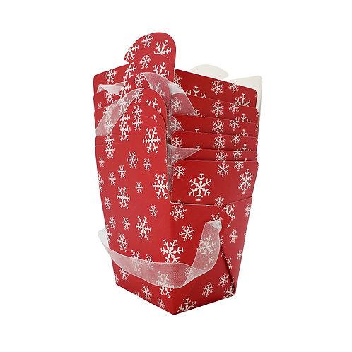 Kolorae Take Out Box Snowflake - 6 count