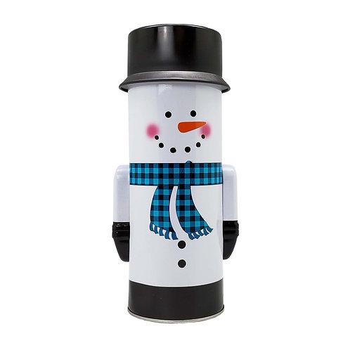 Kolorae Tin Tall Blue Scarf Snowman