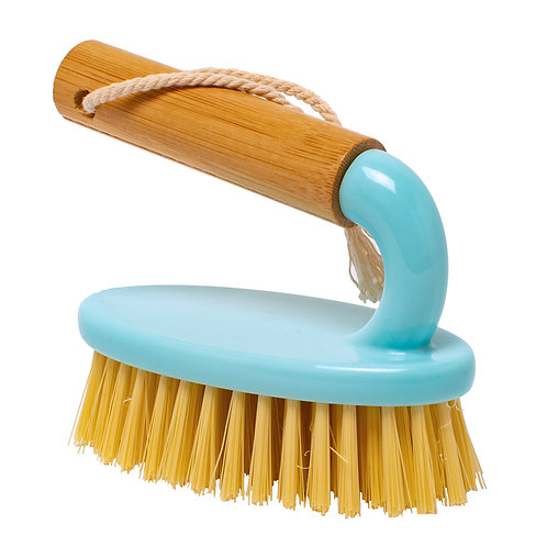 Kolorae Bamboo Utility Handle Brush Pastel Turquoise