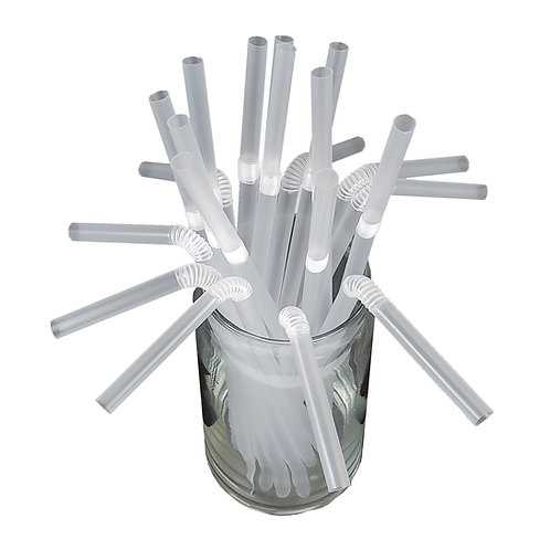 Kolorae Individually Paper Wrapped Clear Flex Straws