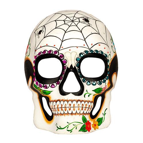 Masqarae Sugar Skull Mask - Web