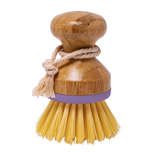 Kolorae Bamboo Palm Dish Brush Lavender