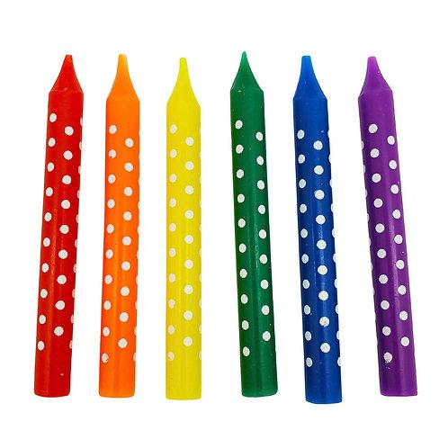 Kolorae Rainbow Dot Birthday Candles