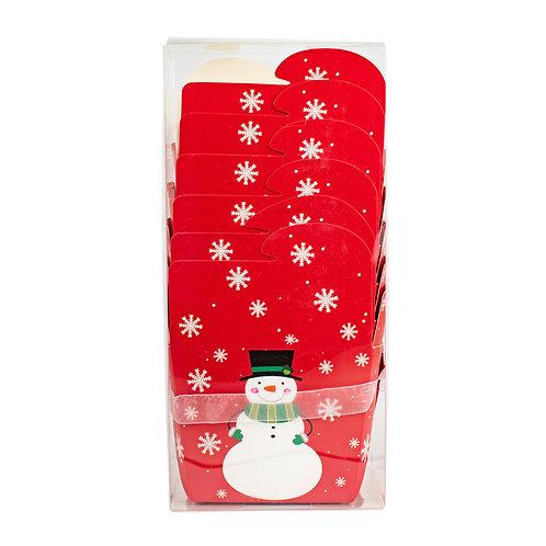 Kolorae Tin Take Out Box Happy Snowman 6 Count