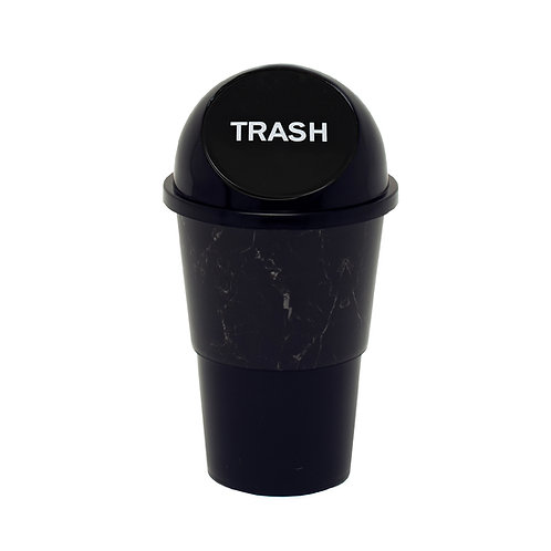 Kolorae Cup Holder Waste Can Black Marble