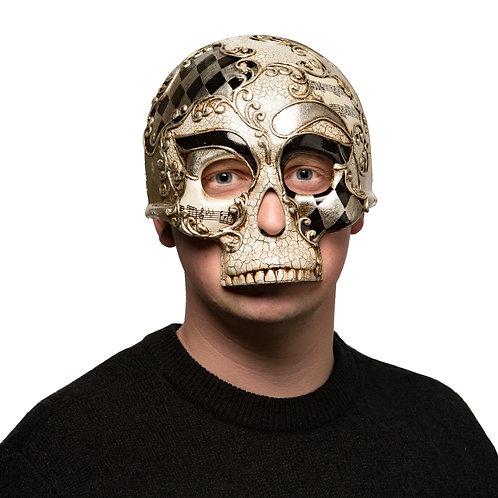 Masqarae Half Skull Mask - MUSIC