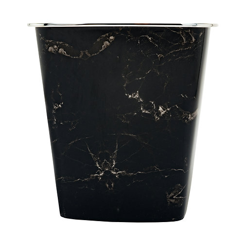 Kolorae Waste Can Black Marble