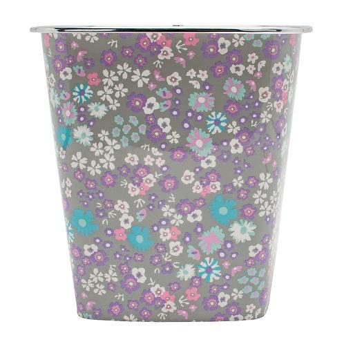 Kolorae Waste Can Purple Petals