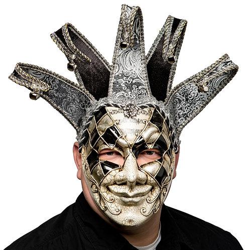 Masqarae Double Diamond Jester Mask - BS