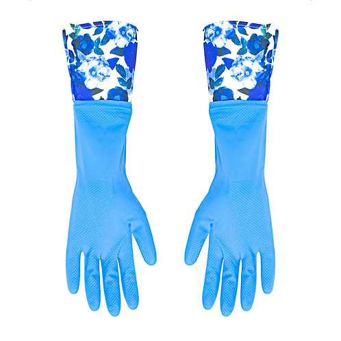 Kolorae Cleaning Gloves Blue Floral 2