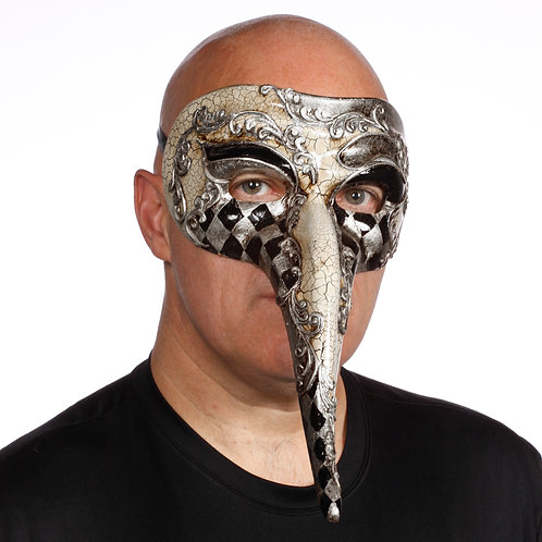 Masqarae Harlequin Nose Mask- SL