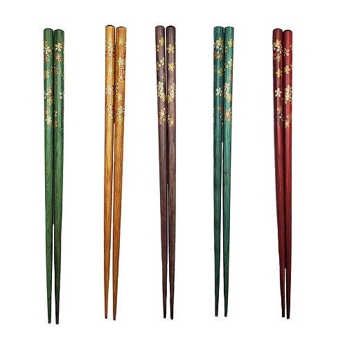 Viovia Bamboo Chopsticks- 10 count- Multi-color