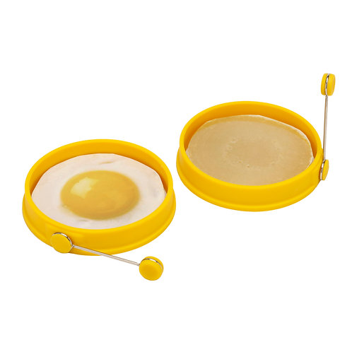 Viovia Silicone Egg and Pancake Ring - 2 Count