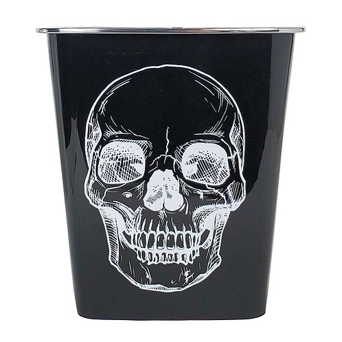 Kolorae Waste Can Black Base White Skull