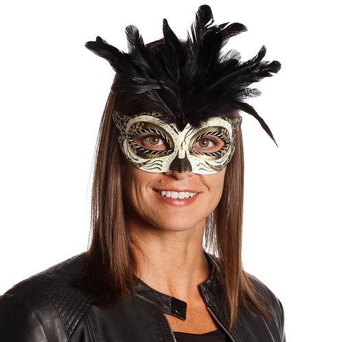 Masqarae Tufted Feather Mask - GG