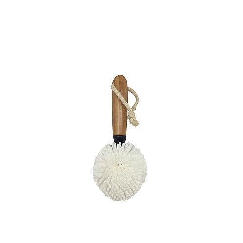 Broxan Bamboo Sponge Ball Bottle Brush