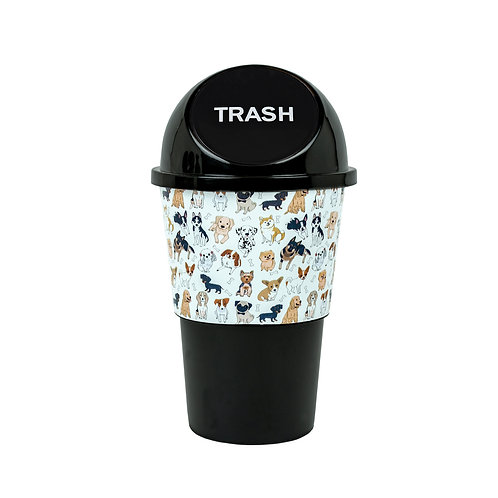 Kolorae Cup Holder Waste Can Dapper Dogs