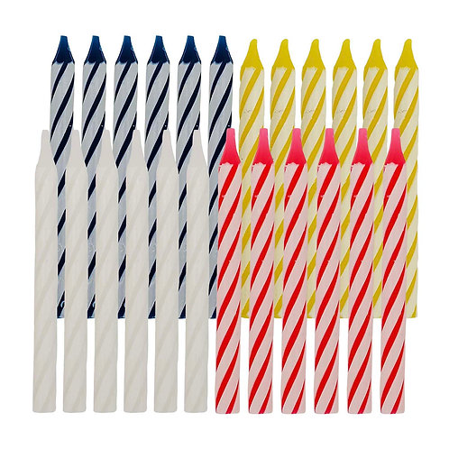 Kolorae Multi Spiral Birthday Candles - 24 Count