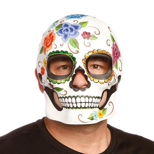 Masqarae Sugar Skull Mask - FLORAL