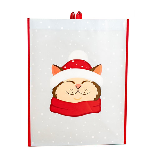 Kolorae Graphic Tote Santa Hat Cat
