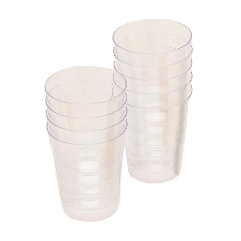 barY3 Clear Plastic Shot Glasses