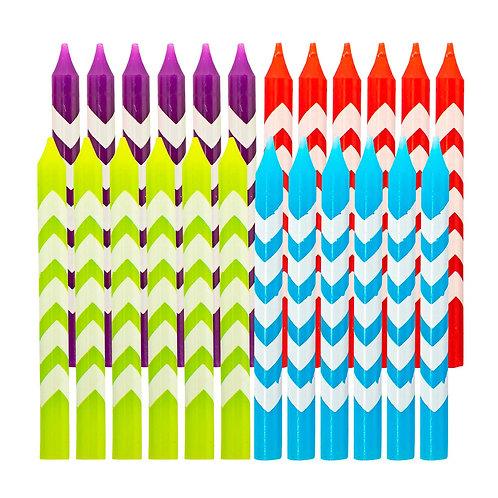 Kolorae Chevron Birthday Candles - 24 Count