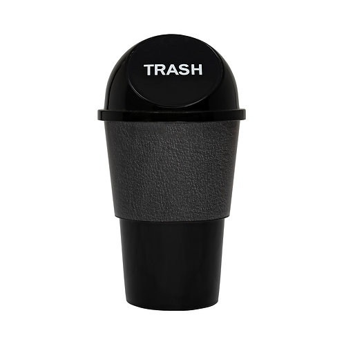 Kolorae Cup Holder Waste Can Black Leather