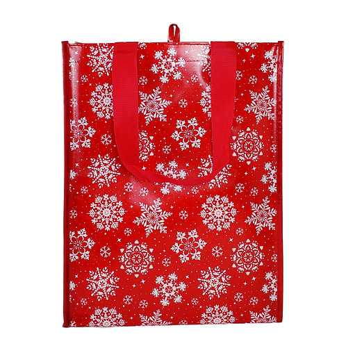 Kolorae Graphic Tote Red Snowflake