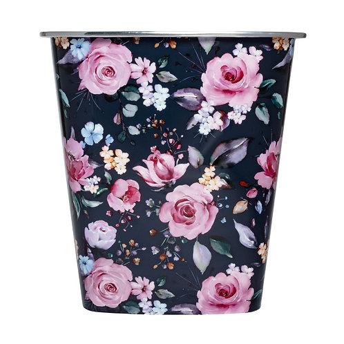 Kolorae Waste Can Navy Floral