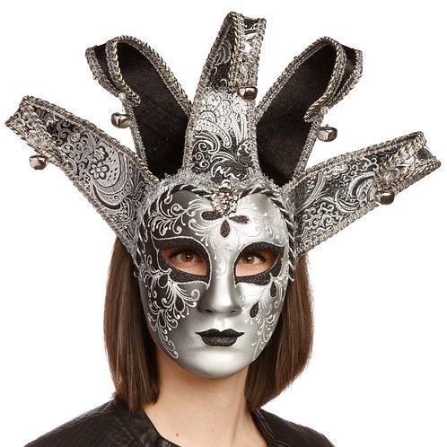 Masqarae Lady Harlequin Jester Mask - WS