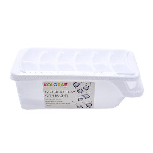 Kolorae Ice Tray 12 Cube with Bucket