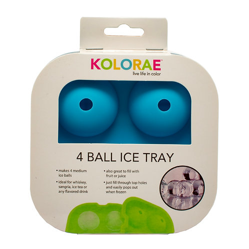 Kolorae Silicone 4 Ball Ice Tray - Summer Colors