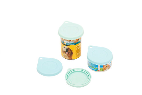 Blue Paws Set of 2 Pet Can Covers