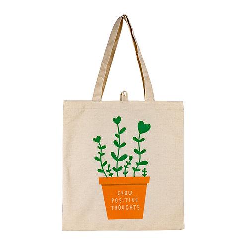 Kolorae Canvas Tote - Grow Positive Plant