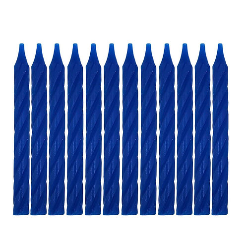 Kolorae Blue Spiral Birthday Candles - 24 Count