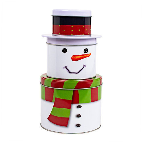 Kolorae Tin Stacking Snowman with Scarf