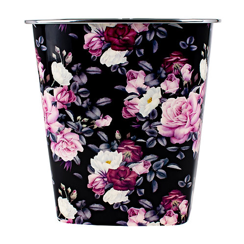 Kolorae Waste Can Dark Floral