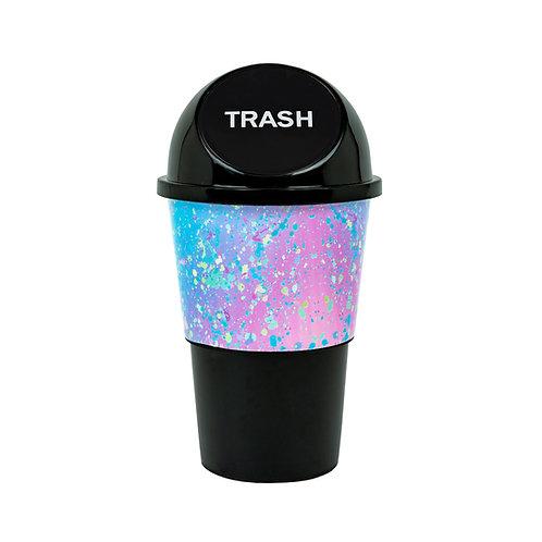 Kolorae Cup Holder Waste Can Rainbow Splatter