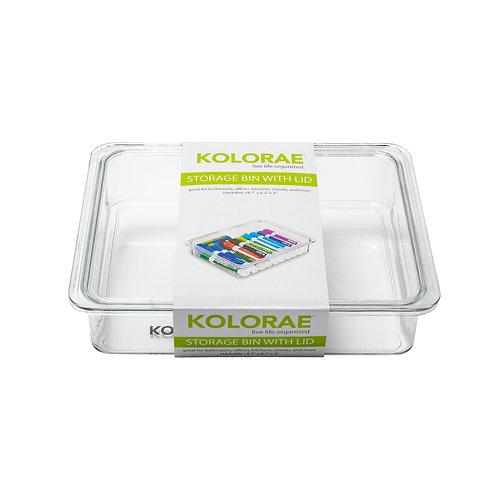 """Kolorae Storage Bin with Lid 8.7"""" x 6.7"""" x 1.96"""""""