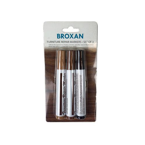 Broxan Furniture Repair Markers - Set of 3