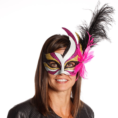 Masqarae Feather Bird Eye Mask - PK