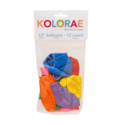 Kolorae 12IN Balloons - 12 Count