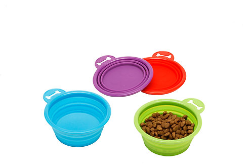 Blue Paws Small Collapsible Pet Bowl
