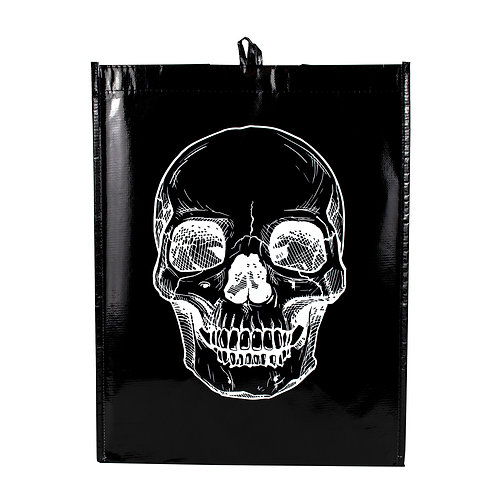 Kolorae Graphic Tote Black Base White Skull