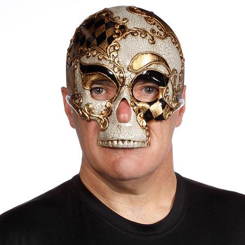 Masqarae Harlequin Skull Mask - BG
