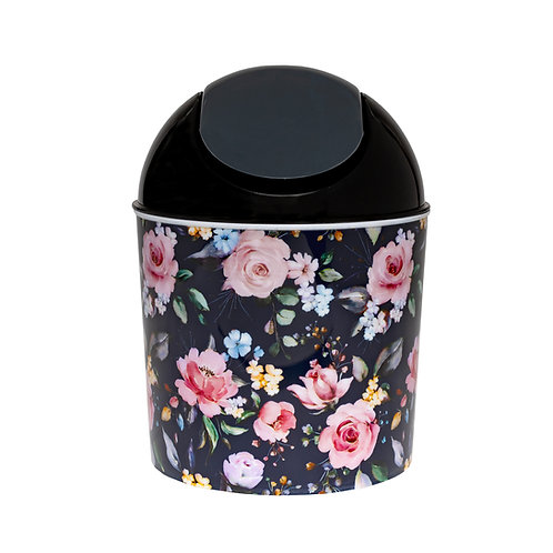 Kolorae Mini Waste Can Navy Floral
