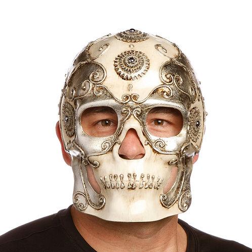 Masqarae Sugar Skull Mask - SILVER