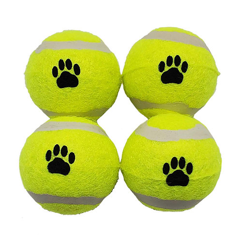 Blue Paws Mini Color Tennis Balls 4 Count