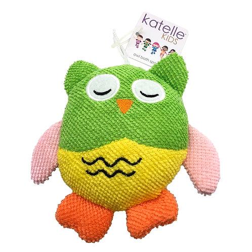 Katelle Bath Sponge Owl