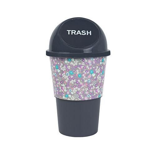 Kolorae Cup Holder Waste Can Purple Petals
